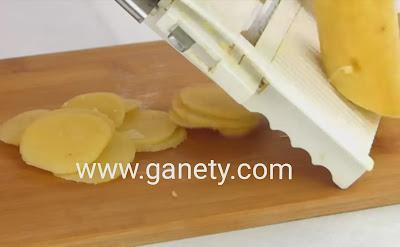 طريقة عمل بسكوت البطاطس potato crackers