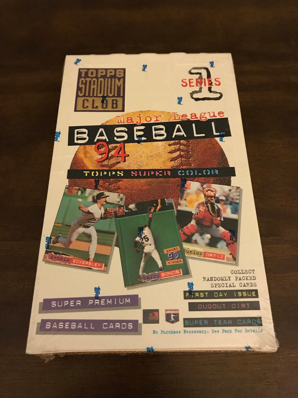 c8052f0751 I feel old saying that, considering this product is from 1994. Where have  the years gone?? Anyways, this week's break is 1994 Topps Stadium Club  Series 1 ...