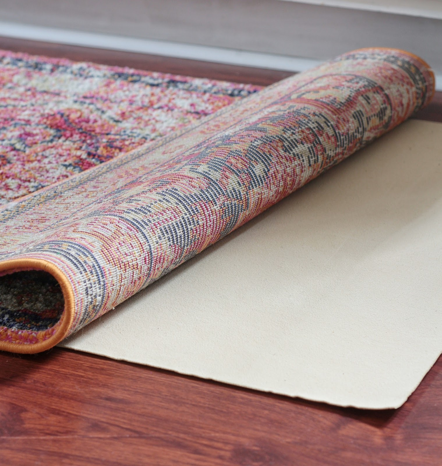 THE Rug Pad You NEED Under Your New Vintage Runner!  And a Giveaway!
