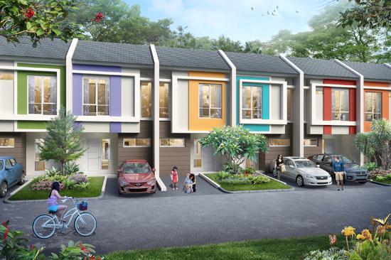 tampak depan rumah minimalis ukuran 5x10 meter 2 kamar tidur 2 lantai