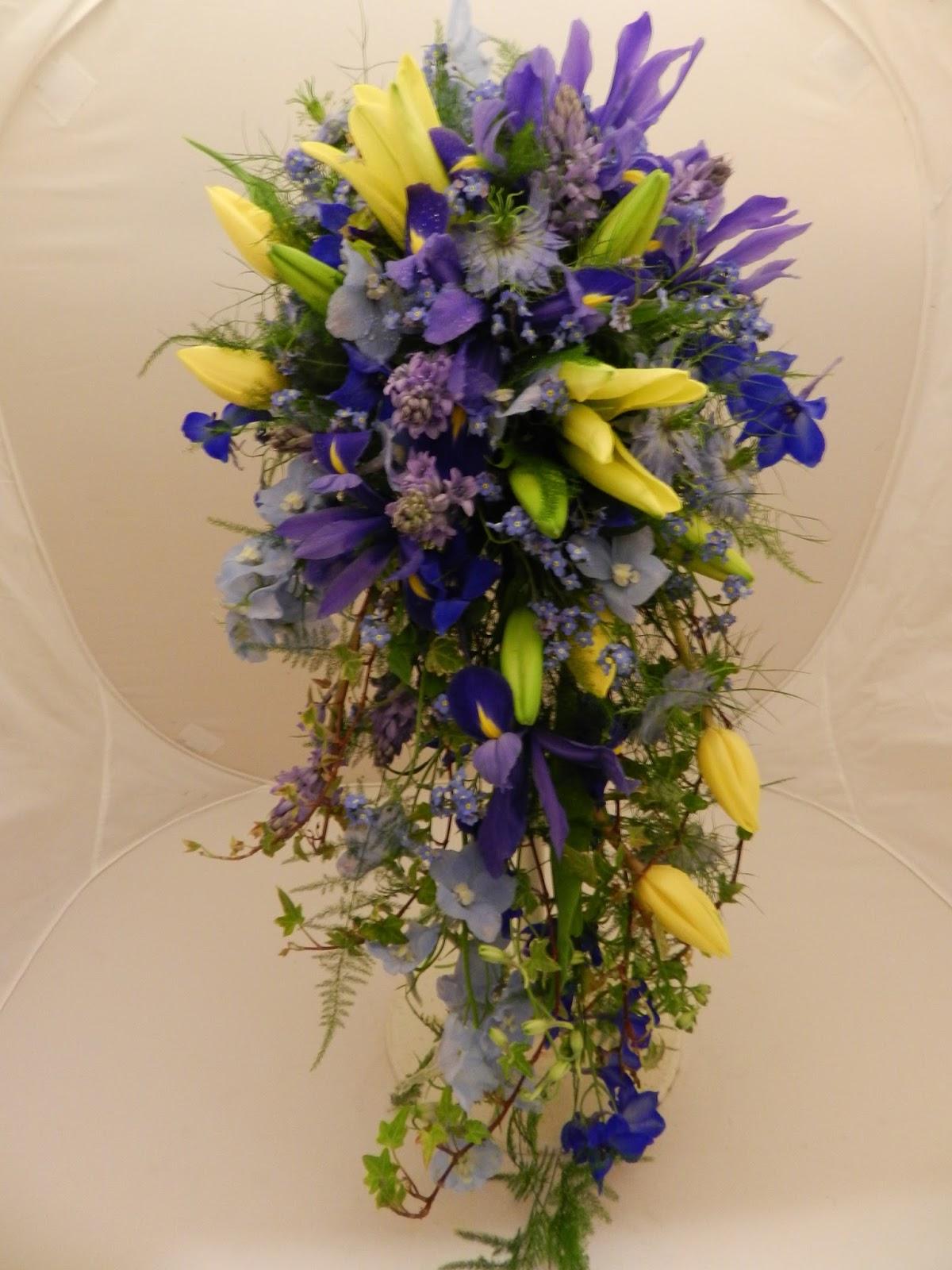 Sandras Flower Studio Blue And Yellow Wedding Flowers
