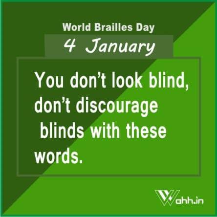 World Brailles Day Slogan