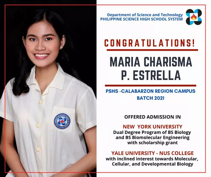 Maria Charisma Estrella of Cavite