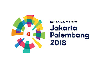 Logo Asian Games ke 18 Tahun 2018 di Jakarta dan Palembang Indonesia