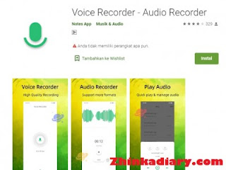 Aplikasi rekam suara Android terbaik Voice Recorder