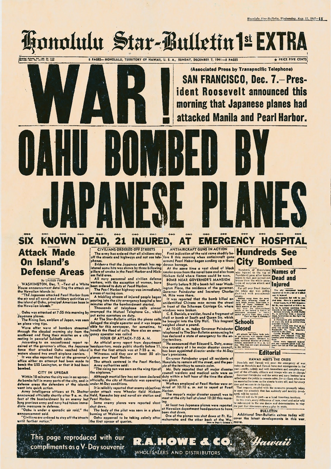 Taipei Air Station Pearl Harbor Remembered