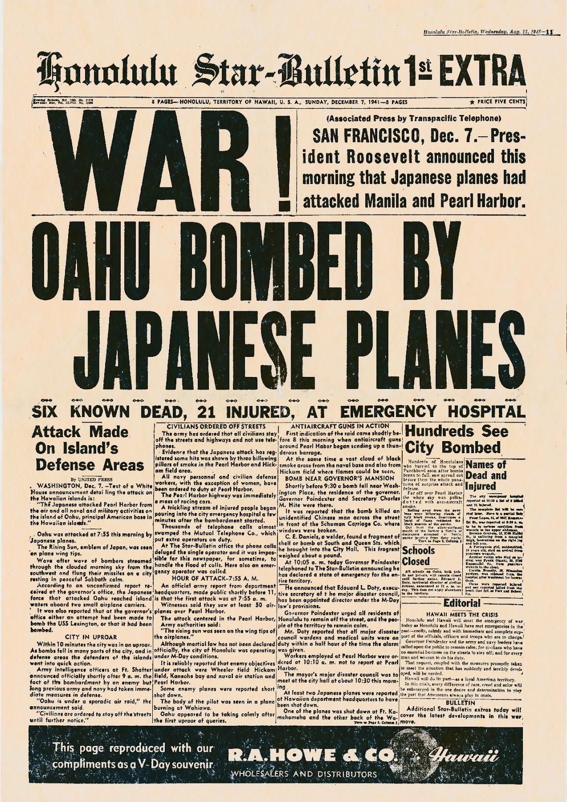 Taipei Air Station Pearl Harbor Remembered