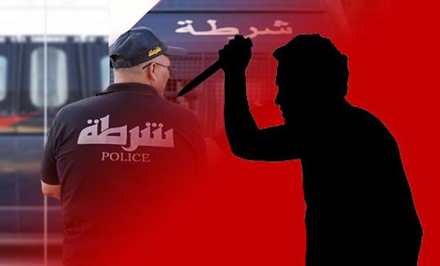 طعن عون أمن un agent de sécurité poignardé