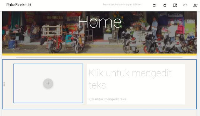 memasukan konten gambar dan text pada google sites