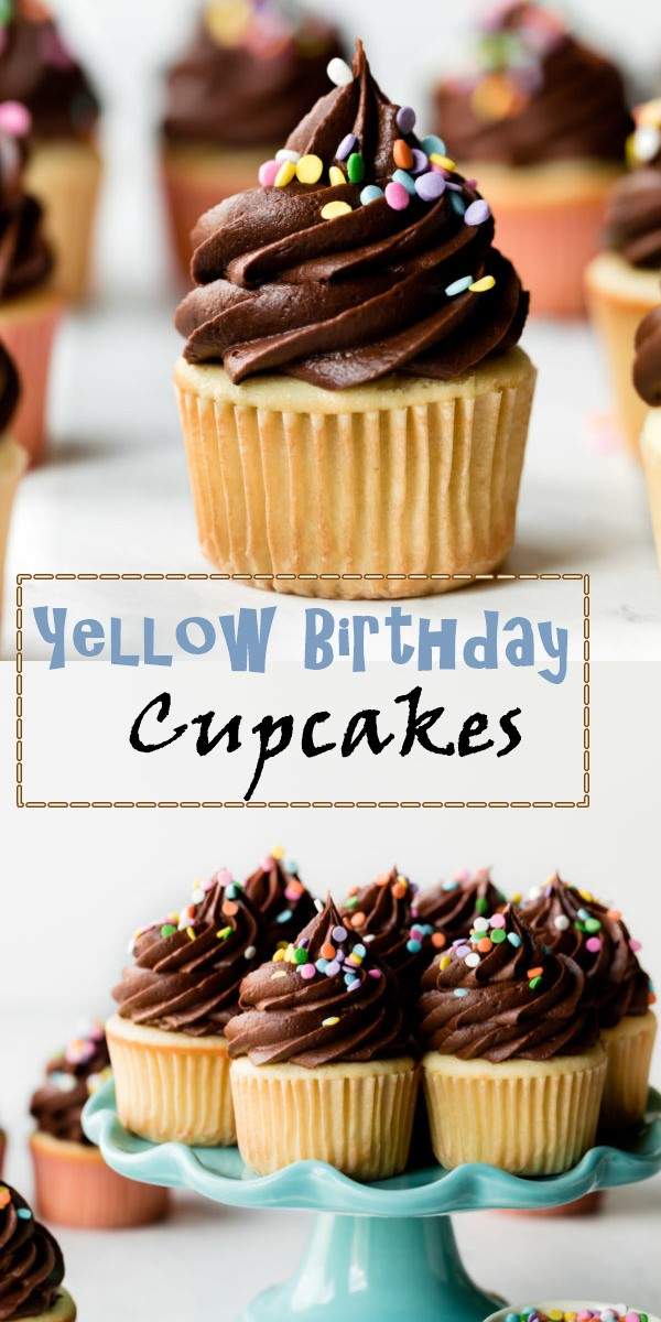 Yellow Birthday Cupcakes (Recipe Solved!)