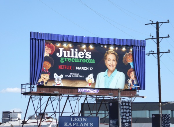 Julies Greenroom special 3D curtains billboard