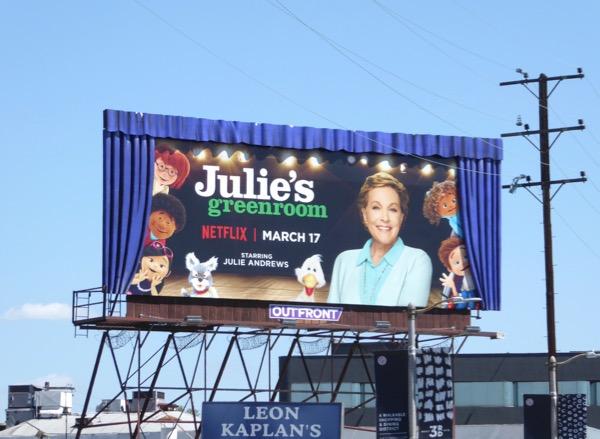 Julies Greenroom special 3D curtains billboard