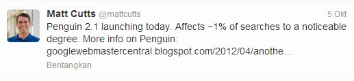 update penguin 2.1 google