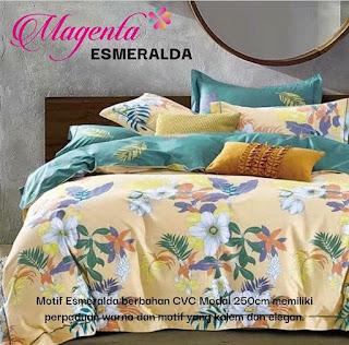 Sprei Magenta Esmeralda