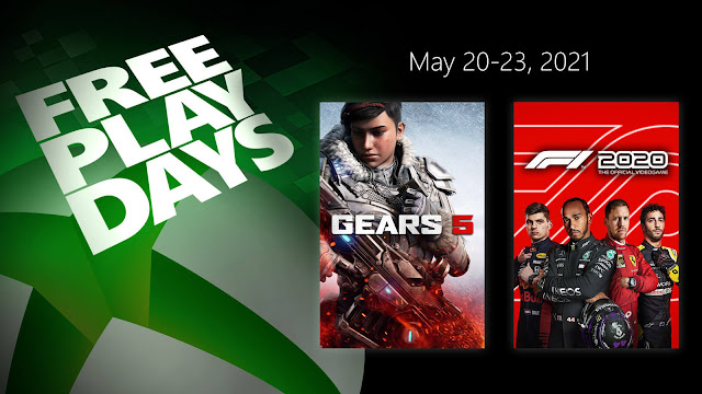 f1 2020 gears 5 codemasters coalition microsoft studios xbox live gold free play days event