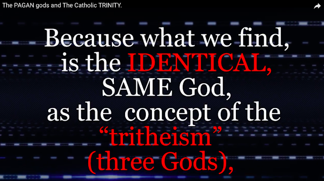 "What we find, is the IDENTICAL, SAME God, as the concept of the ""tritheism"" (three Gods),"
