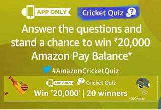 All answer of amazon Cricket Quiz