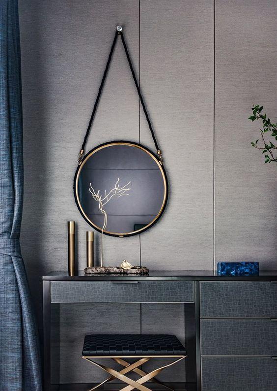 dark and modern interior design