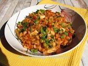 Доматено ризото с грах и моцарела * Risotto al pomodoro con piselli e mozzarella