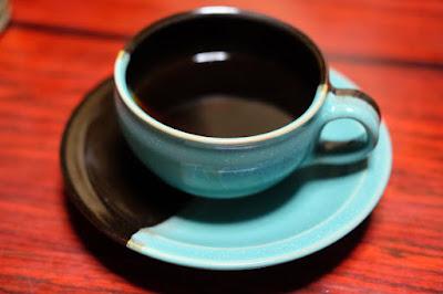 鳥取旅行で買った因州・中井窯のコーヒーカップ