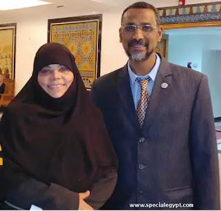 الدكتورة فايقة غزيز وزوجها الأستاذ أحمد عبد الوهاب