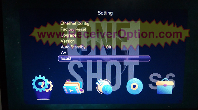 ONE SHOT S6 PLUS 1506TV NEW SOFTWARE WITH ECAST & ACTIVEX OPTION