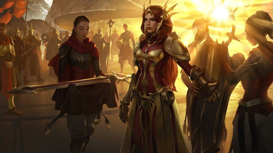 Leona, LoL, Targon, Legends of Runeterra, 4K, #5.2726