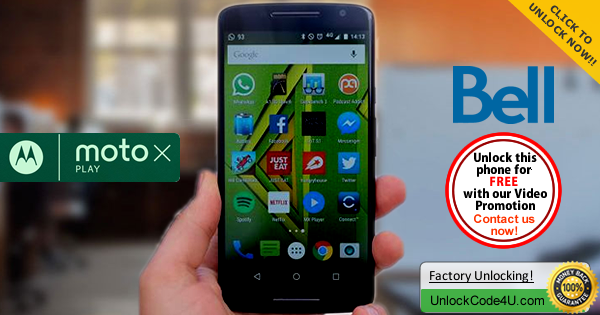 Factory Unlock Code Motorola Moto X Play from Bell