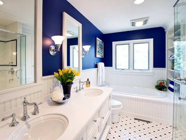 Cool Blue Master Bathroom Designs and Ideas 2016