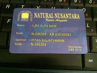 Contoh Id Card member Asli