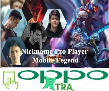 Nickname Pro Player Mobile Legend
