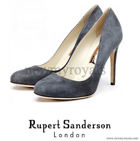 Kate Middleton style Rupert Sanderson Grey Suede High Heel Pumps