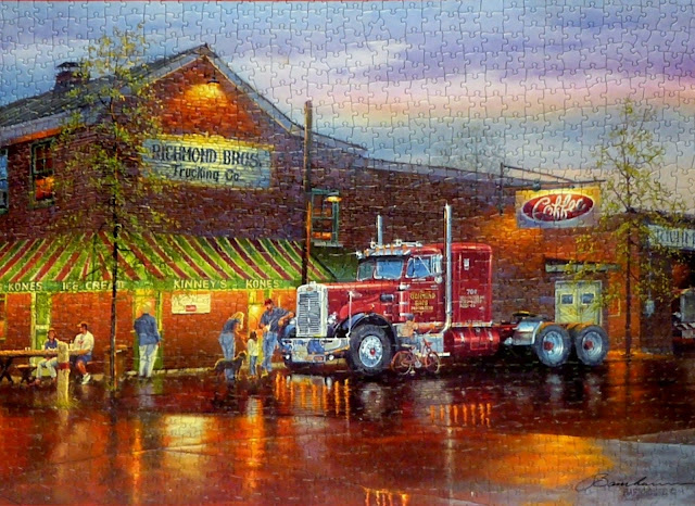 Dave Barnhouse Big Red 1000 pc puzzle by Cobble Hill Photo Elmer Prather