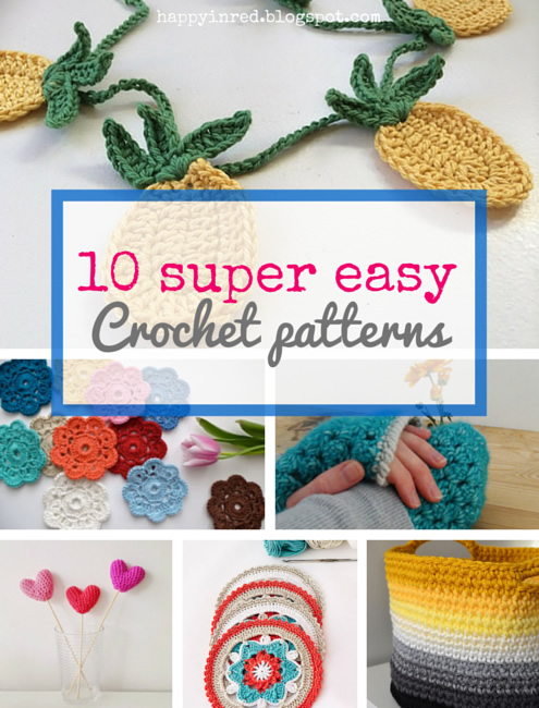 10 easy and free crochet projects for beginners | Happy in Red