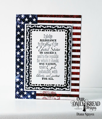 Our Daily Bread Designs Stamp Set: Justice for All, Custom Dies: Lavish Layers, Paper collection: Stars and Stripes
