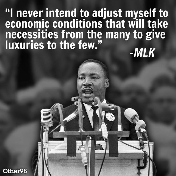 Socialist Courier Quotes From Martin Luther King