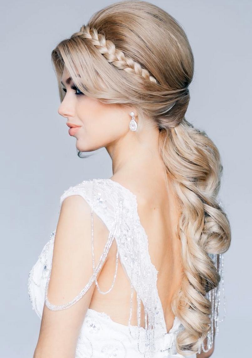 best style hairpunky: braided crown wedding hairstyle pretty