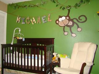 Habitación de bebé tema selva