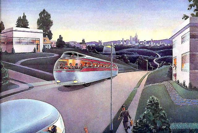 a 1943 retrofuture transit illustration