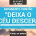 """Movimento Cristão """"Deixa o Céu Descer"""" será realizado dia 21 na Barra"""
