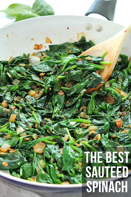 The Best Sauteed Spinach