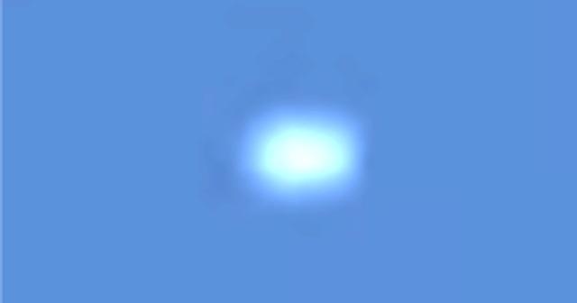 Esfera blanca cerca de un avión sobre Kansas City, Missouri 29 de septiembre de 2020 2