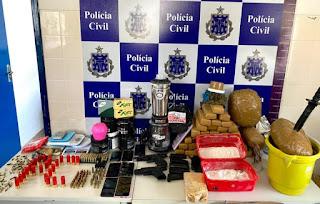 Polícia apreende mais de 20 kg de drogas em Irecê