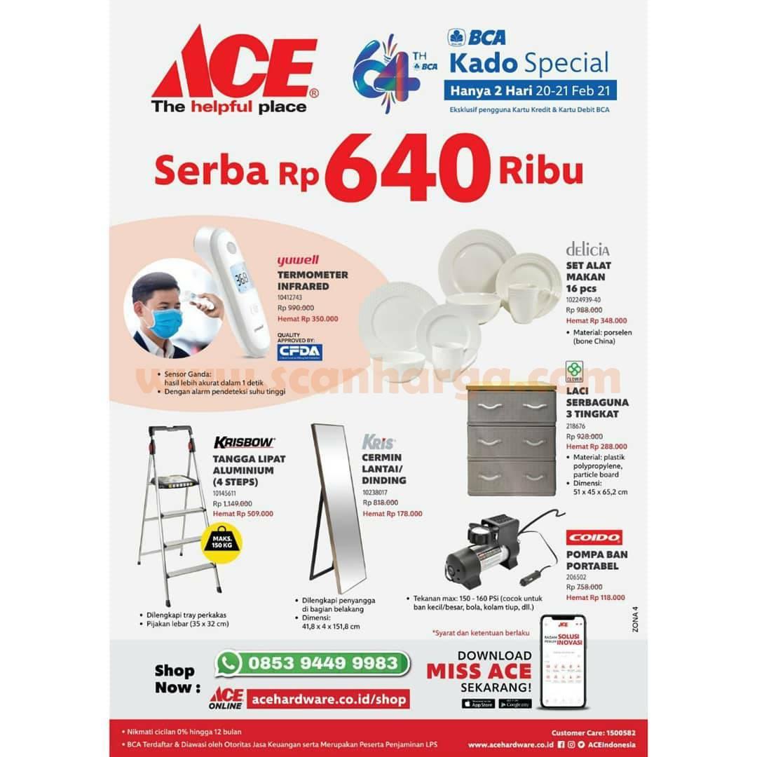 ACE HARDWARE Promo HUT BCA 64 – DISKON Harga SERBA Rp 64.000