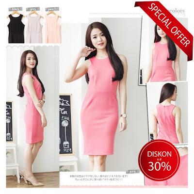 bodycon mini dress import korea elegan rok terusan casual kerja kantor formal