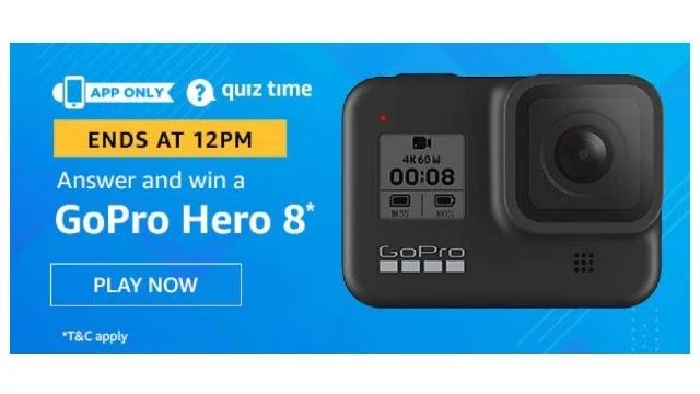 Amazon Quiz Answers For Today 18th April 2020 - Win Go Pro Hero 8