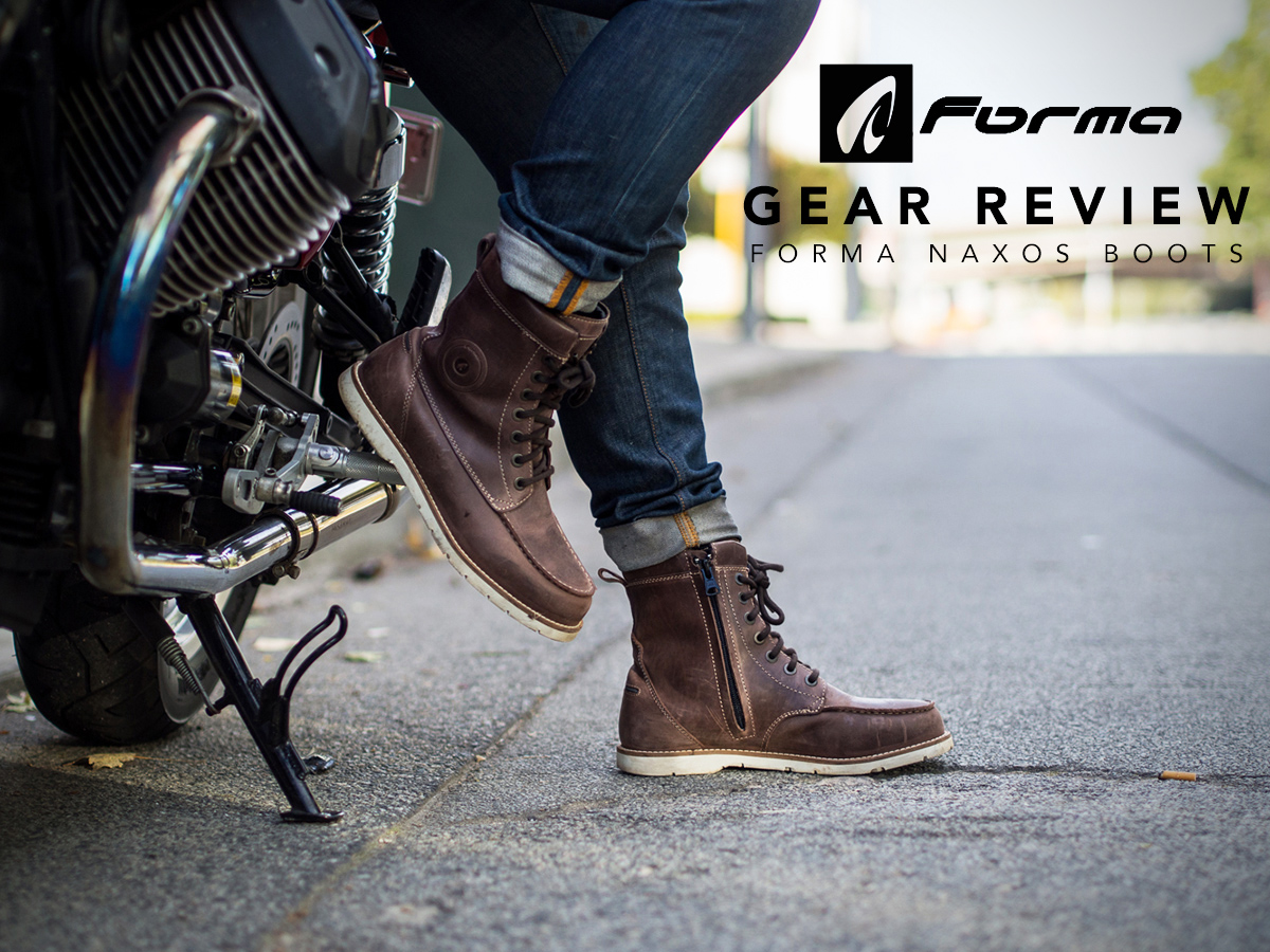 gear review - forma naxos boots ~ return of the cafe racers