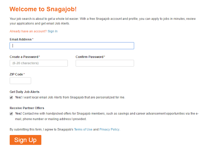 Snagajob registration