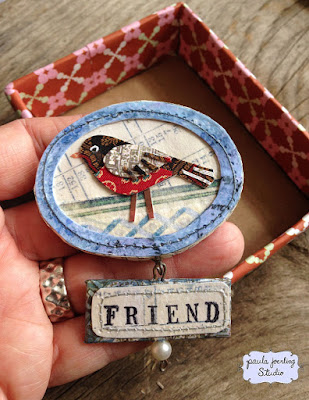 Handmade pin by Paula Joerling Studio