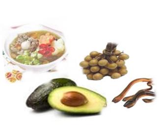 Gambar makanan dan buah seperti sop buntut,lengkeng,apokat dan belut untuk atasi kemandulan